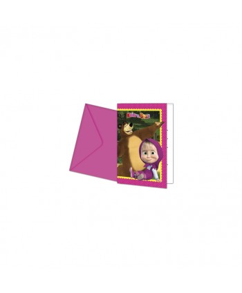 MASHA AND THE BEAR INVITACION 6U.