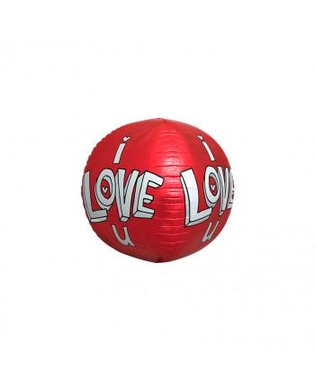 """GLOBO ESFERA 3D 17"""" I LOVE U 43 CM REF. 01049-01"""