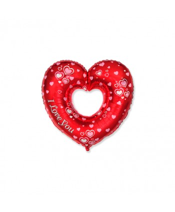 "GLOBO FOIL 27"" CORAZON I LOVE YOU REF. 27HiP25"