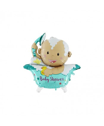"GLOBO FOIL 42"" BABY SHOWER (BEBE BAÑERA)"