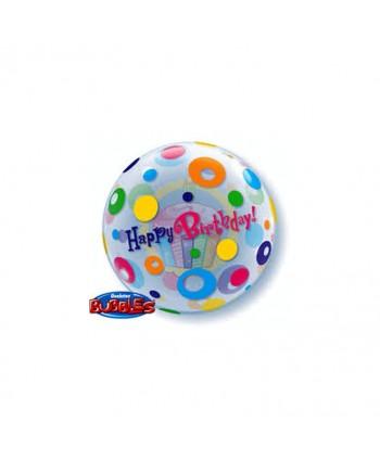 "GLOBO BUBBLES 22"" HAPPY BIRTHDAY"
