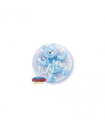 """GLOBO BUBBLES 24"""" DOUBLE BABY BOY"""