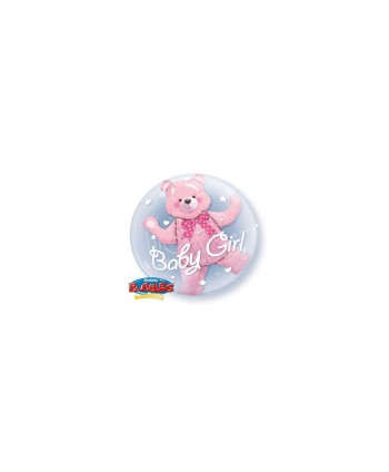 """GLOBO BUBBLES 24"""" DOUBLE BABY PINK"""