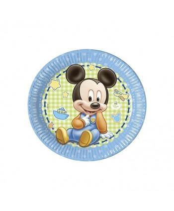 BABY MICKEY PLATOS 23CM. 8UN.