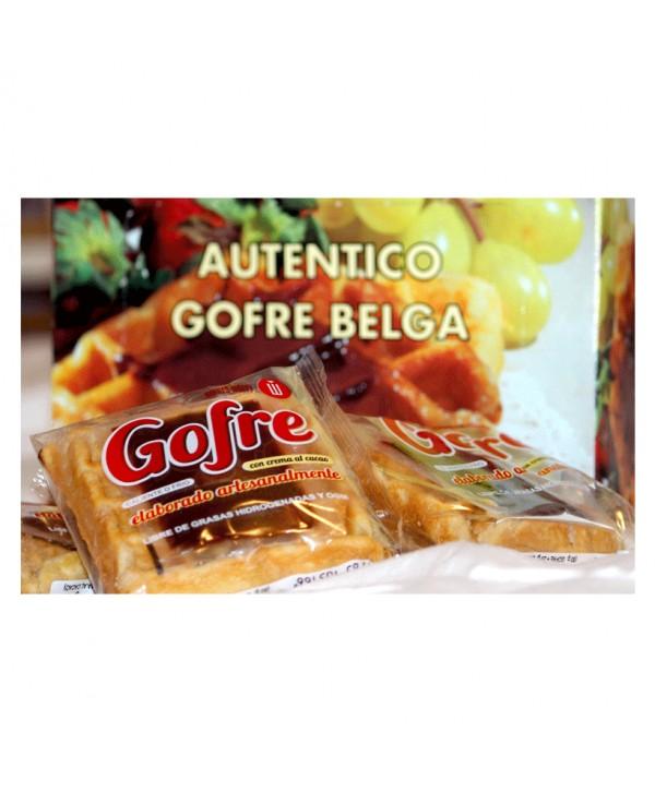GOFRE CON CREMA DE CACAO 14X140GR.