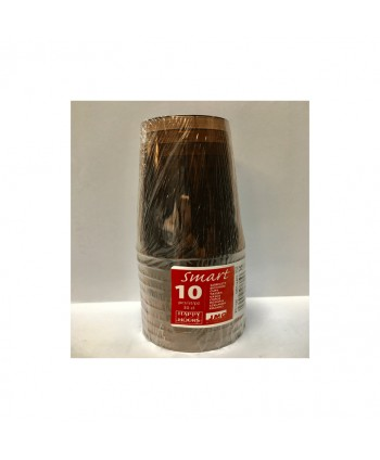 VASOS 10U.30CL.CHOCOLATE
