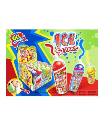 ICE STRAWS GEL CANDY 16UNX25GR.