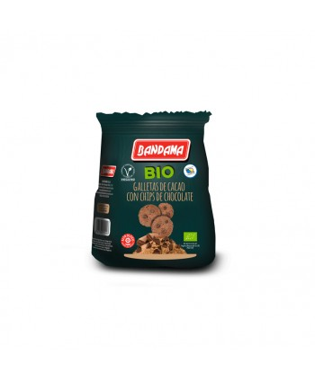 BANDAMA BIO GALLETAS CACAO CHIPS CHOCO 8X150GR.