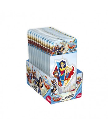 VELAS SUPER HERO GIRLS  2D 7,5CM. REF: 346198 12UN