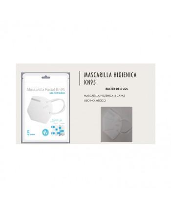 MASCARILLA FACIAL KN95 5UN.