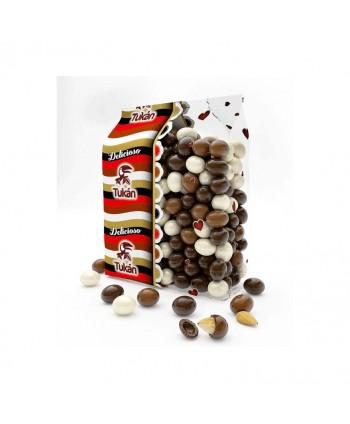 TUKAN ALMENDRAS MIX 3 CHOCOLATES BOLSA 1KG.