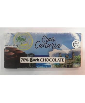 TABLETA GRAN CANARIA 70% CACAO S/GLUTEN 125GR.