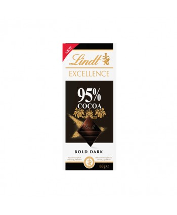 LINDT EXCELLENCE 95% CACAO 20X80GR.