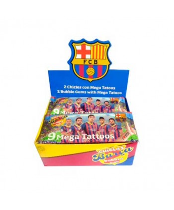 SAET CHICLES BARÇA MEGA TATOOS 24UN.