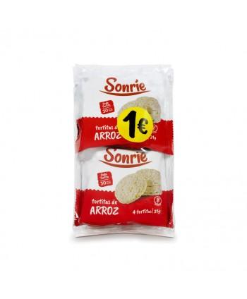 SONRIE TORTITAS DE ARROZ 4X31GR.