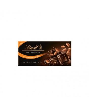 LINDT CHOCOLATE NEGRO CON ALMENDRAS 30X100GR.
