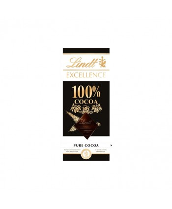 LINDT EXCELL. 100% CACAO 18X50GR.