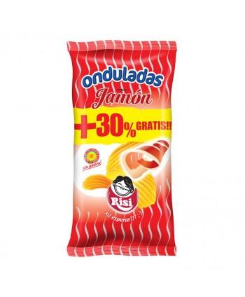 PAPAS ONDULADAS JAMON 9UX100GR.+30% GRATIS