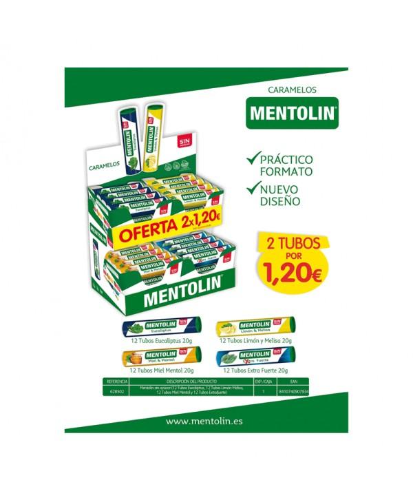 EXP. TUBO MENTOLIN 4 SABORES 2X1,20€  COD.628502