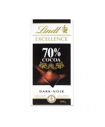 LINDT EXCELL. 70% 20X100 GR.