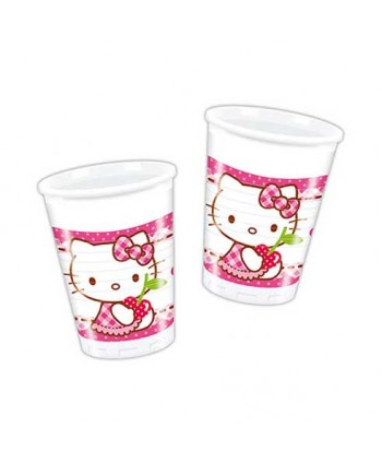 HELLO KITTY VASOS 200ML.8UN.