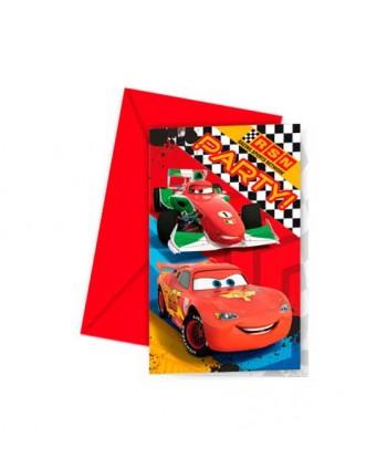 CARS INVITACION 6X24U.