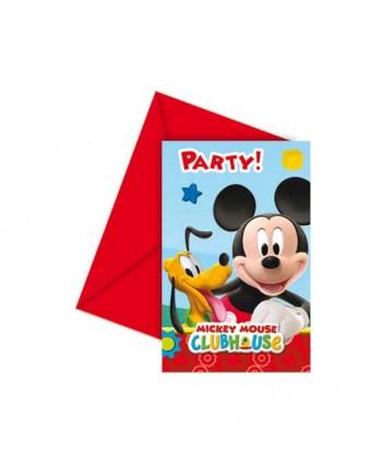 MICKEY PLAYFUL INVITACIONES 6UN.REF.16138