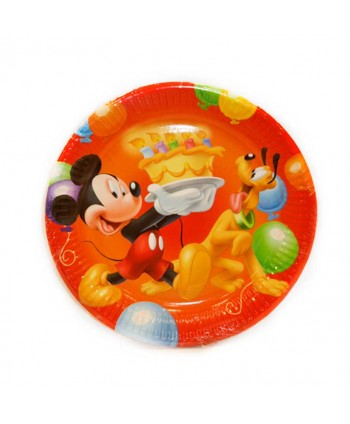 MICKEY PARTY PLATOS 19,5CM 8X25U.