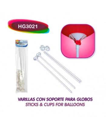 BALLOONIA VARILLAS Y SOPORTES 20UN.ART.HG3021