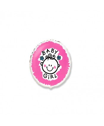 "GLOBO FOIL 18"" BABY GIRL"