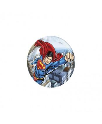 SUPERMAN PLATOS 23CM 8U.