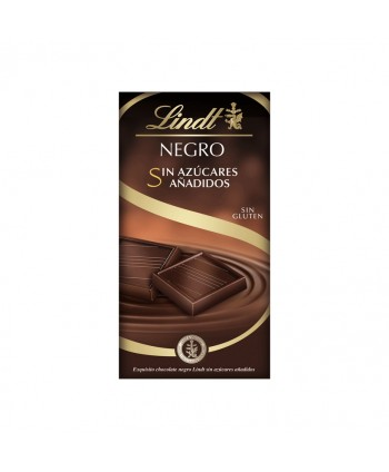LINDT NEGRO SIN AZUCARES AÑADIDOS 16X100GR.