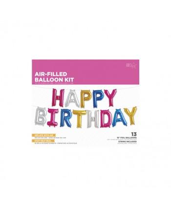 "KIT FOIL MULTICOLOR 16"" HAPPY BIRTHDAY"